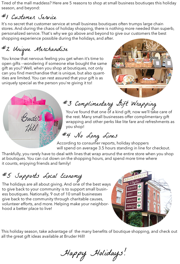 5 reasons to shop at boutique