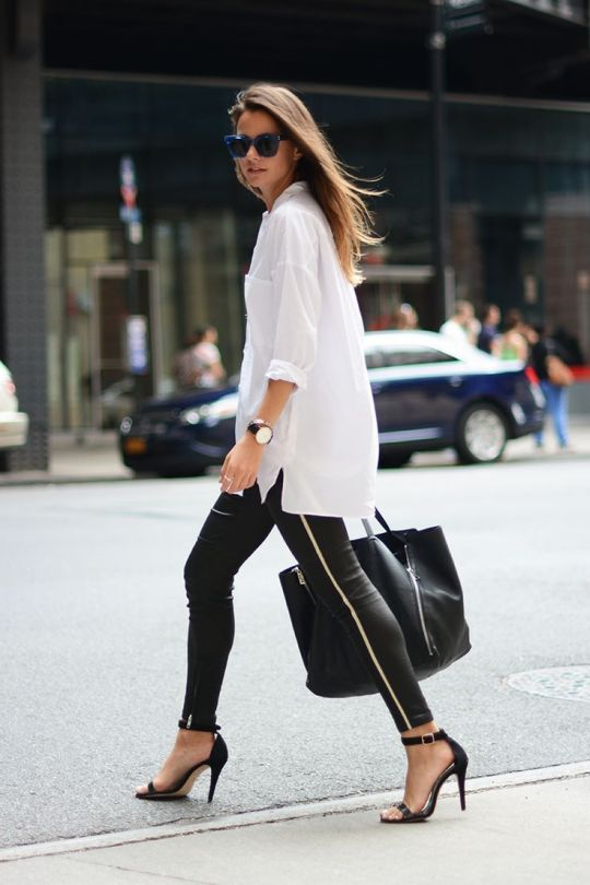 leggings with button down